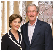 President George W. Bush and First Lady  Laura Bush